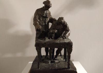 Reproducción monumento a A. Churriguera y el Conde de Francos